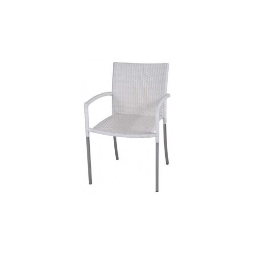 R+V Living Olivia Dining Chair in White with Arms
