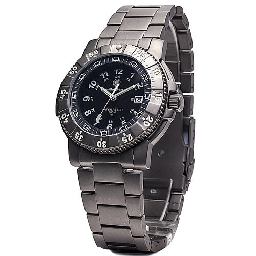 Smith & Wesson Executive Men's Tritium H3 Round Face Link Watch
