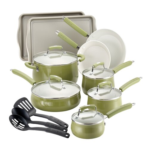 Paula Deen Savannah 17-Piece Cookware Set with Bakeware