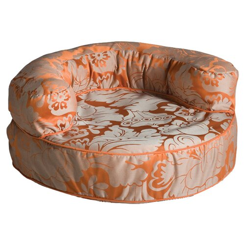 Couture Melrose Persimmon Bolster Dog Bed