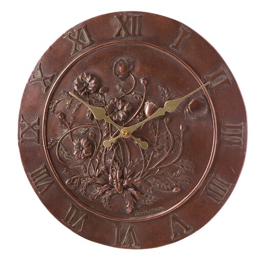 Hen-Feathers Poppies Clock