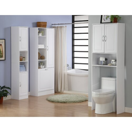 """4D Concepts Storage and Organization 24.38"""" x 71.5"""" Over the Toilet Cabinet"""