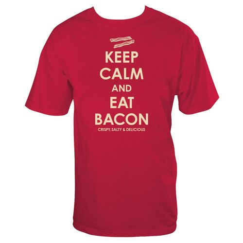 NMR Distribution Keep Calm Bacon T Shirt
