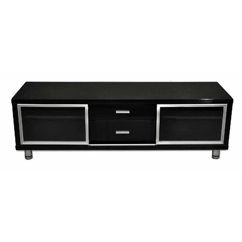 By Designs Samantha 144cm High Gloss Black Entertainment Unit