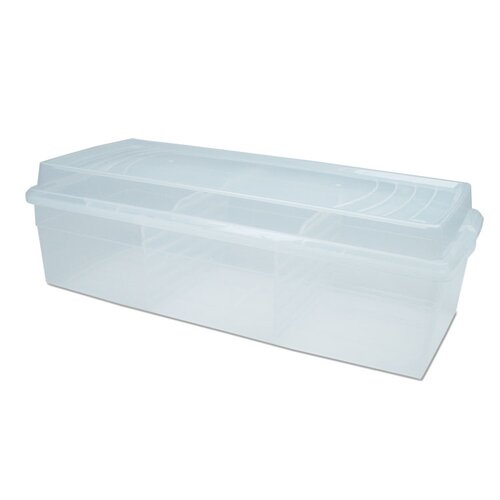 Modular Clear Book Box Storage