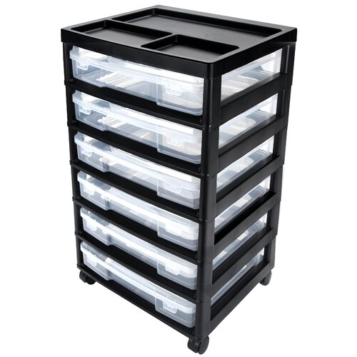 Iris Project and Scrapbook Carts 6 Case Chest with Casters