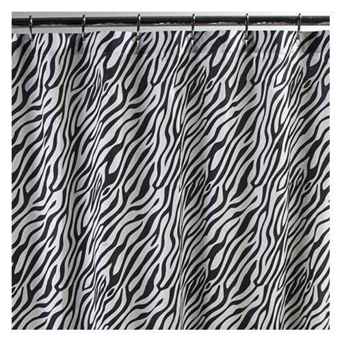 Dreamy Linens Cotton Zebra Shower Curtain