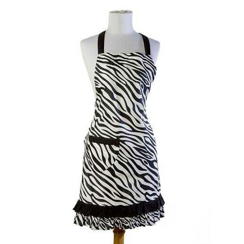 Zebra Apron in Black