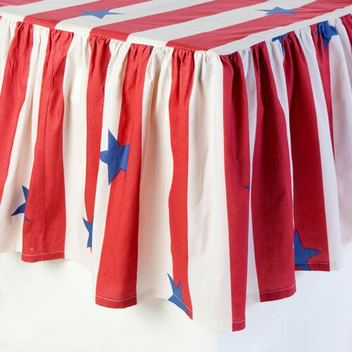 Sin In Linen Stars and Stripes 2 Piece Crib Bedding Set