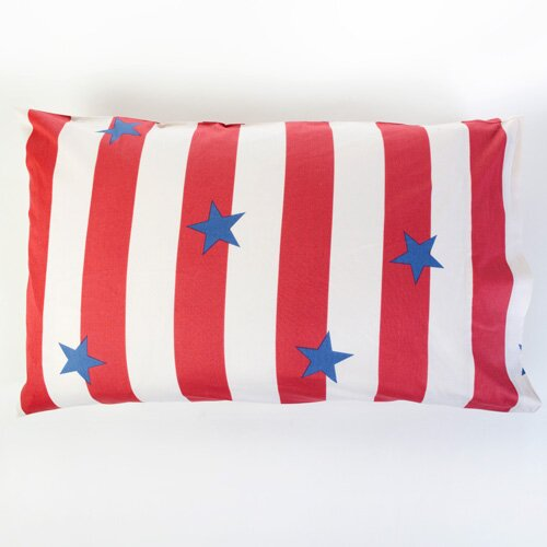 Sin In Linen Stars and Stripes Pillowcase