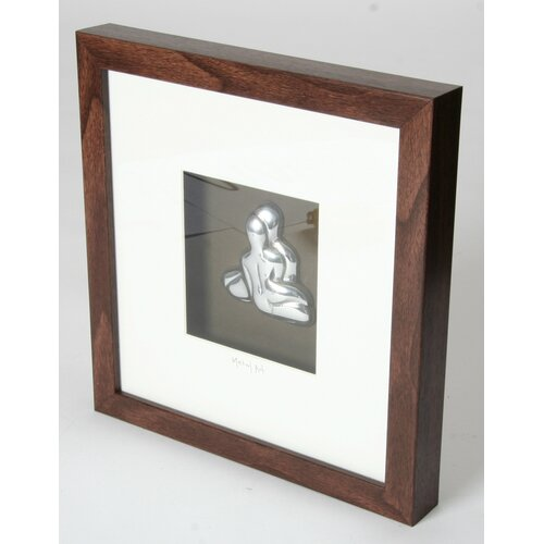 Metal Art Nude Couple Wood Box Frame