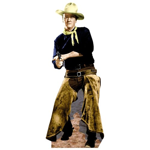 Hollywood's Wild West John Wayne with Chaps Jammers Wall Decal