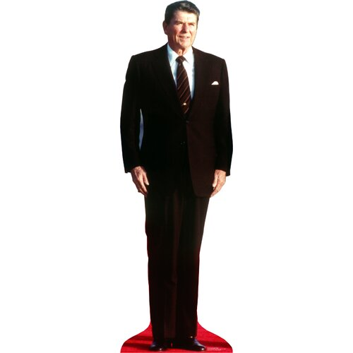 Advanced Graphics Cardboard Patriotism and Politics President Ronald Reagan Standup