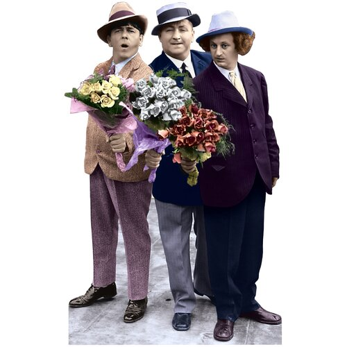 Advanced Graphics Three Stooges with Flowers Life-Size Cardboard Stand-Up