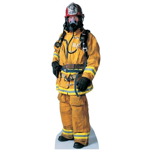 Advanced Graphics Modern Heroes Firefighter Life-Size Cardboard Stand-Up