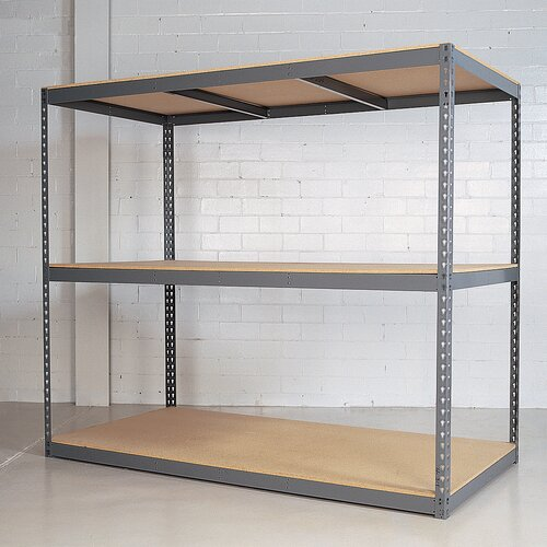 "Republic Rivet Wedge-Lock Bulk 84"" H 3 Shelf Shelving Unit Starter"