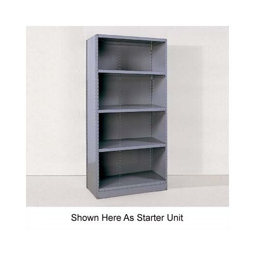"Republic Industrial Clip Closed 85"" H 5 Shelf Shelving Unit Starter"