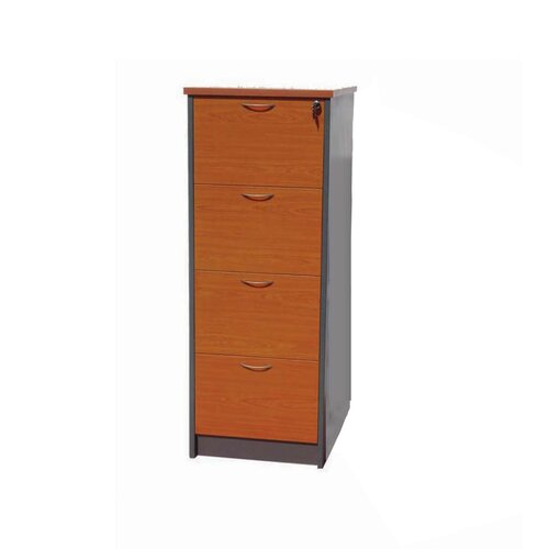 Fonda Office Furniture 4 Drawer Filing Cabinet with Lock