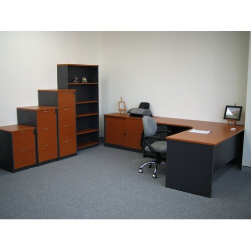Fonda Office Furniture 180cm Bookcase with 4 Shelves
