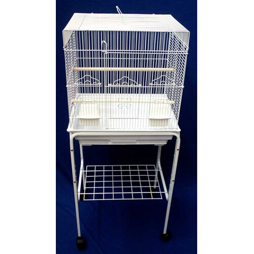 YML Square Top Small Bird Cage with Stand