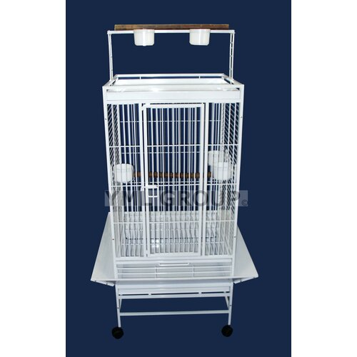 YML Play Top Parrot Bird Cage with 3 Feeder doors