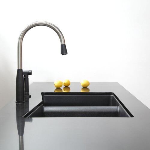 "Kraus 33"" x 19.87"" Undermount 60/40 Double Bowl Granite Kitchen Sink"