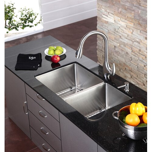 One Handle Single Hole Kitchen Faucet with Pull-Down Spray Head