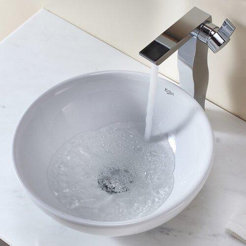 Kraus Bathroom Combos Bathroom Sink  with Single Handle Single Hole Waterfall Faucet