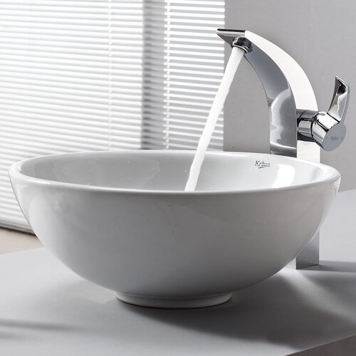 Bathroom Combos Single Hole Waterfall Illusio Faucet and Bathroom Sink