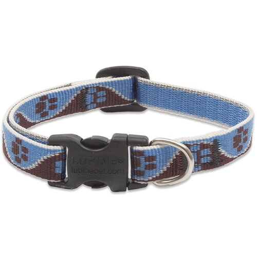 Adjustable Muddy Paws Design Dog Collar