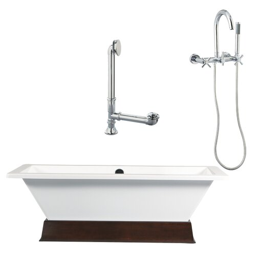 Tella Contemporary Bathtub and Wall Mount Faucet