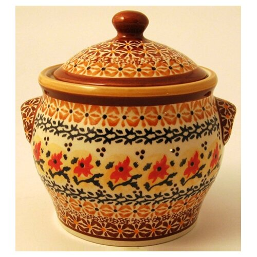Euroquest Imports Polish Pottery Pattern DU70 Decorative Jar
