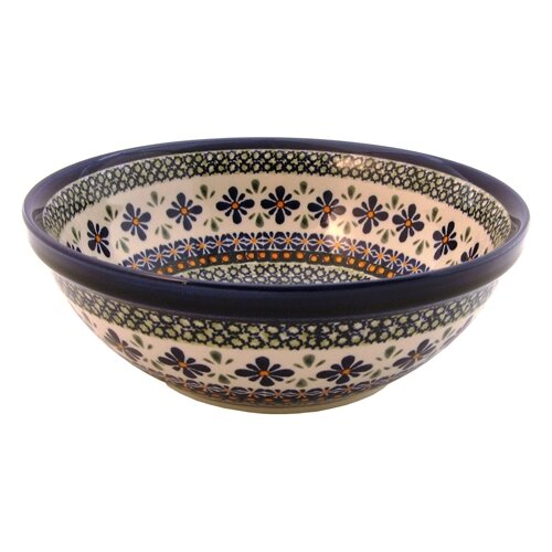 "Euroquest Imports Polish Pottery 9.5"" Serving Bowl"