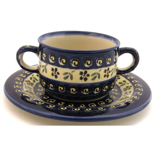 Euroquest Imports Polish Pottery Pattern 175A 8.75 oz. Consommé Bowl