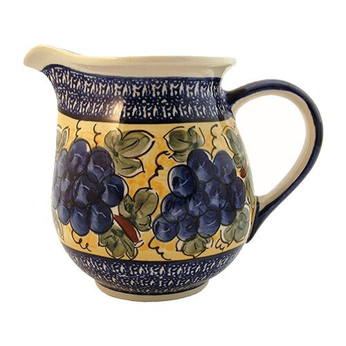 Euroquest Imports Polish Pottery 56 oz Pitcher - Pattern DU8