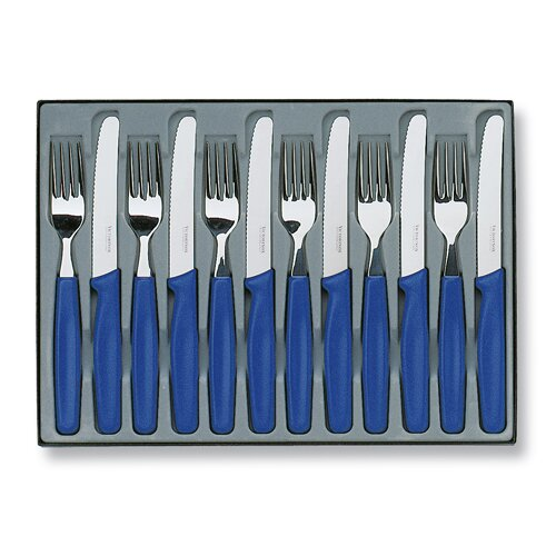 Victorinox 12 Piece Round Tip Table Set in Blue