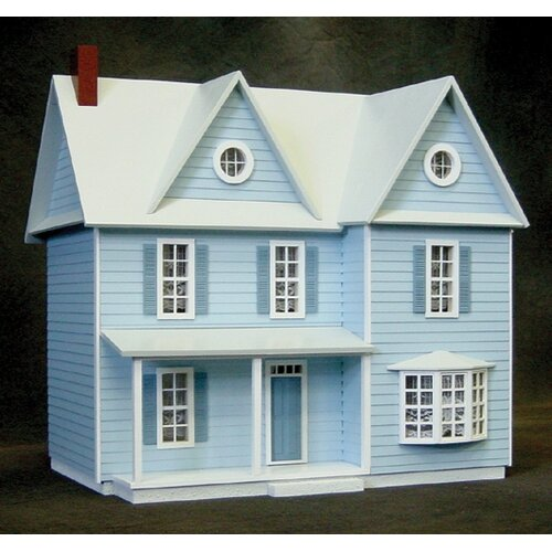 Half-Inch Scale Kits Country Farmhouse Dollhouse