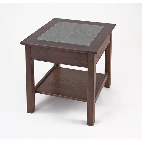 Slate Top End Table