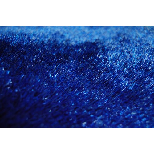 EasyBuy Plush Design Blue Shaggy Rug