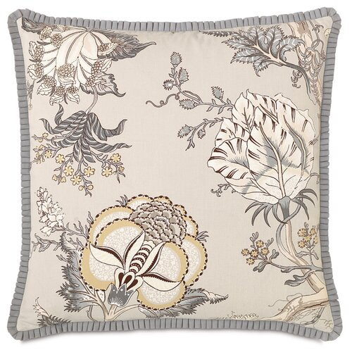 Edith Pleated Ribbon Accent Pillow