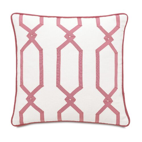 Witcoff Ivory with Ribbon Design Pillow