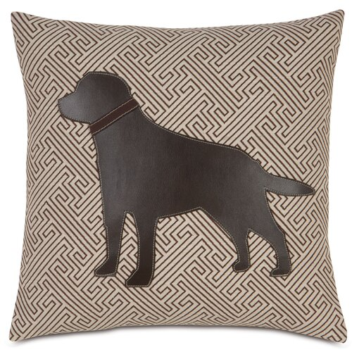 Pets Chocolate Lab in Maze Pillow
