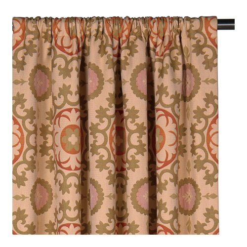 Eastern Accents Bukhara Drapery Rod Pocket Curtain Single Panel