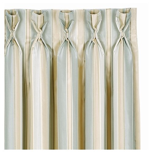 Eastern Accents Evora Stripe Cotton Rod Pocket Curtain Single Panel