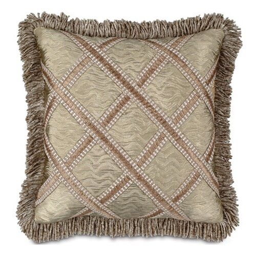 Marbella Sorel Alloy Pillow with Gimp and Fringe