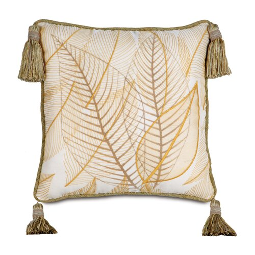 Eastern Accents Antigua Polyester Hand-Painted Collier Sunshine Decorative Pillow with Tas