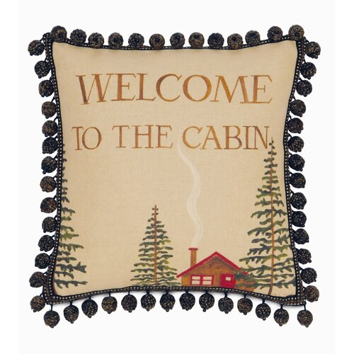 Eastern Accents Reynolds Polyester Welcome to The Cabin Decorative Pillow