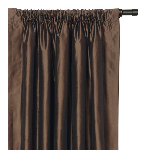 Eastern Accents Freda Solid Tafetta Rod Pocket Curtain Single Panel
