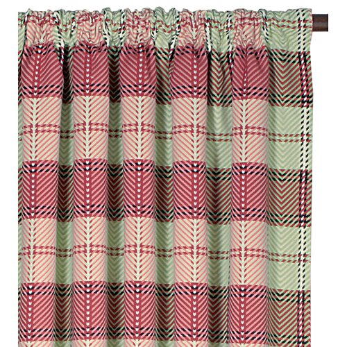 Eastern Accents Pinkerton Kaboodle Cotton Rod Pocket Curtain Single Panel