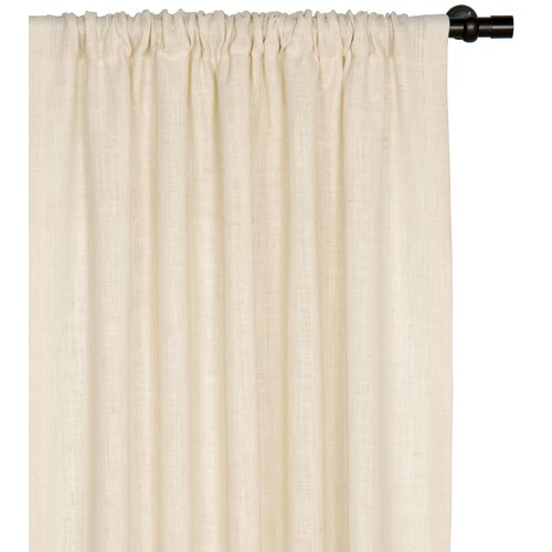 Eastern Accents Rustique Burlap Rod Pocket Curtain Single Panel